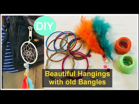How to make Dream Catcher | recycled craft ideas using bangles |