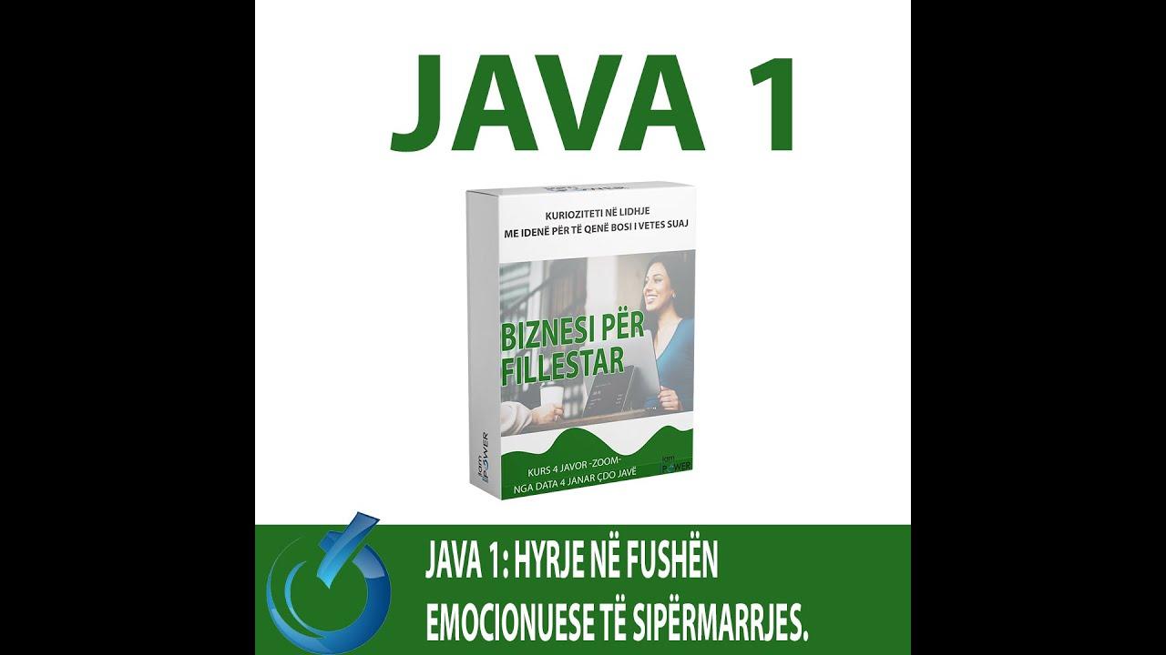 Pjesë nga Trajnimi për Biznes Fillestar Java 1