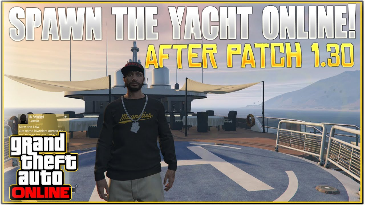 gta v how to get into yacht