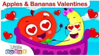 Valentines Day Song with Apples and Bananas | Kids Song and Nursery Rhymes by Little Angel