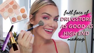 FULL FACE of Drugstore Makeup ACTUALLY AS GOOD As High End Makeup | Mariah Leonard