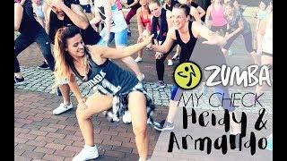 ZUMBA MY CHECK - Heidy & Armando / Zumba® Fitness Choreo (easy dembow)