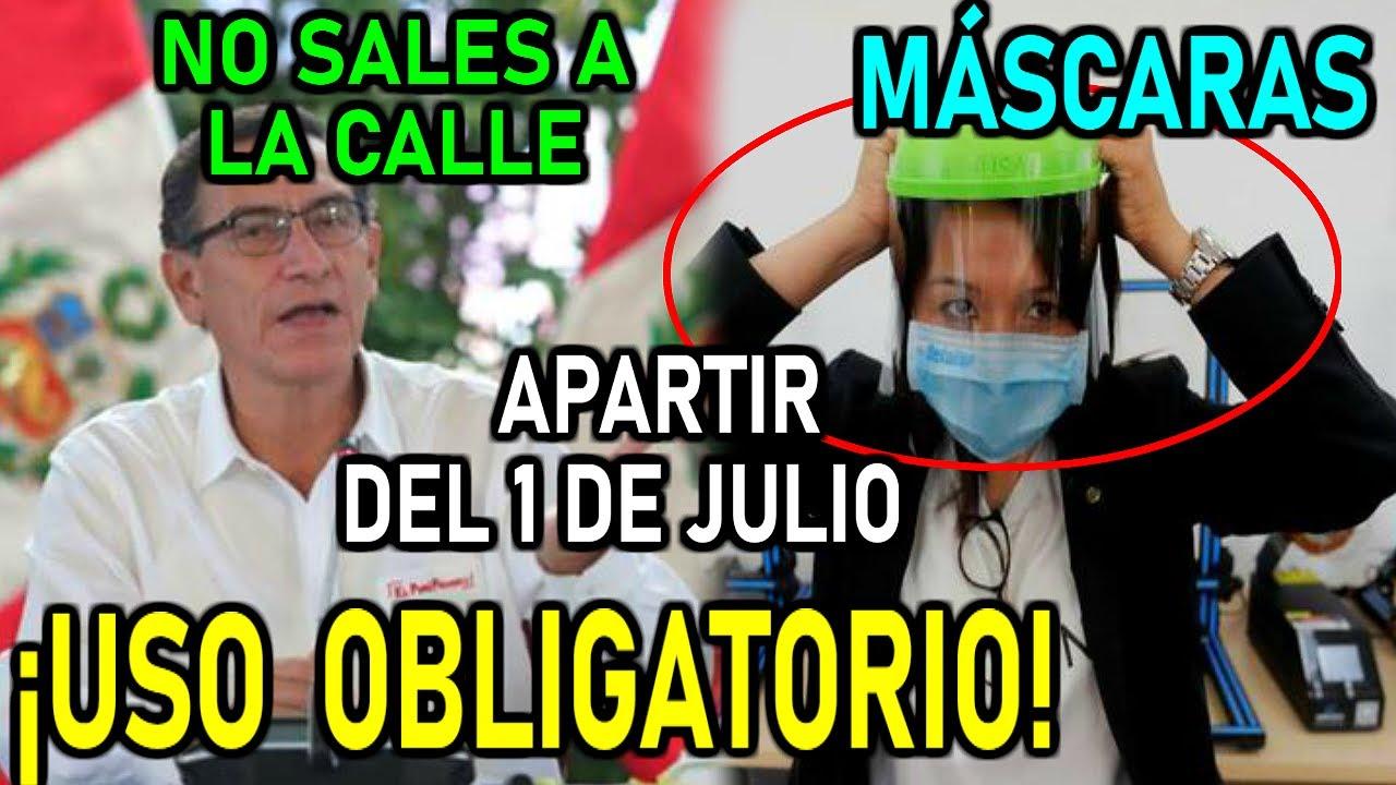 🔴URGENTE!! MASCARAS TRANSPARENTES SERÁN OBLIGATORIAS EN JULIO - NOTICIAS PERÚ