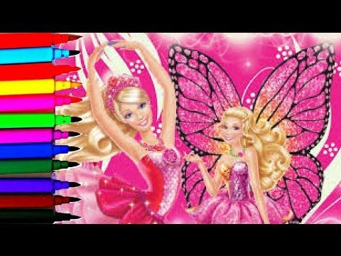 Thumbnail: SPARKLE BARBIE Coloring Book Pages Barbie Mariposa Sparkle Fairy Disney Brilliant Color Show