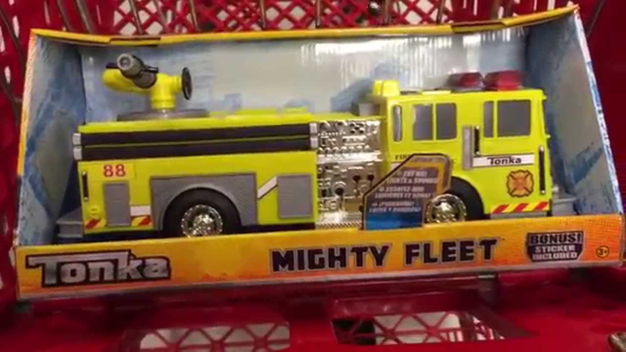 tonka  u0026quot rescue force lights and sounds yellow fire engine u0026quot  truck - toy review