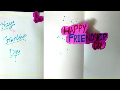 Friendship day greeting card easy