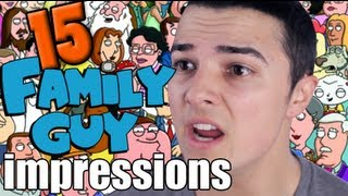 15 Family Guy Impressions in 50 Seconds