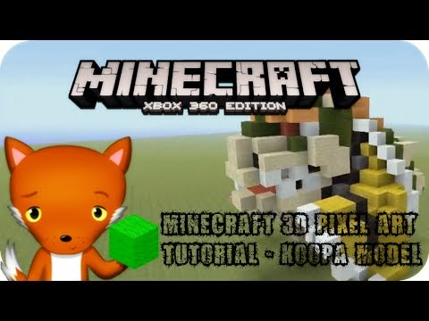 MineCraft 3D Pixel Art Tutorial -  Bowser Model