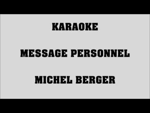 Message personnel - Michel Berger - KARAOKE