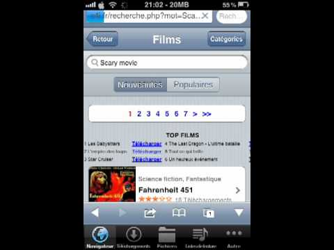 comment telecharger des films gratuitement sur iphone youtube. Black Bedroom Furniture Sets. Home Design Ideas