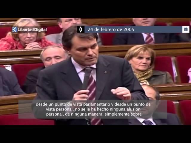 Vídeo de la sesión parlamentaria en la que Maragall acusa a Mas del 3%