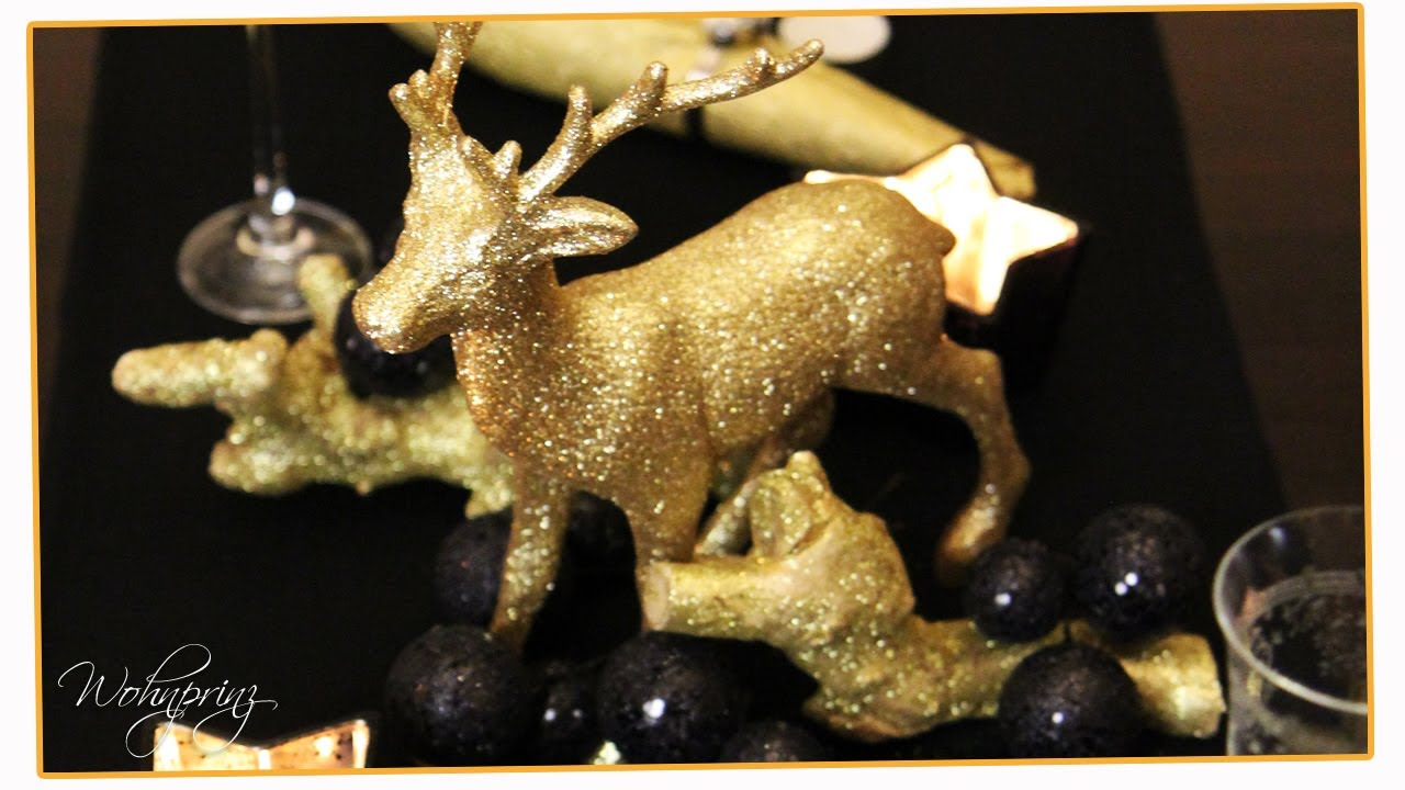 pomp se weihnachtsdeko schwarz gold inspiration. Black Bedroom Furniture Sets. Home Design Ideas