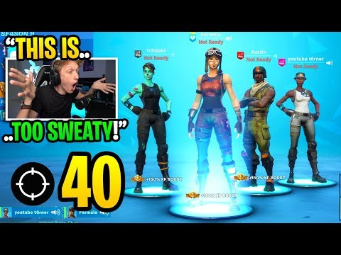 THIS Is What Happens When The 4 RAREST SKINS Play In Season 9 Fortnite... (super Sweaty)
