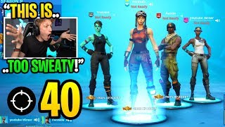 Gambar cover THIS is what happens when the 4 RAREST SKINS play in season 9 Fortnite... (super sweaty)