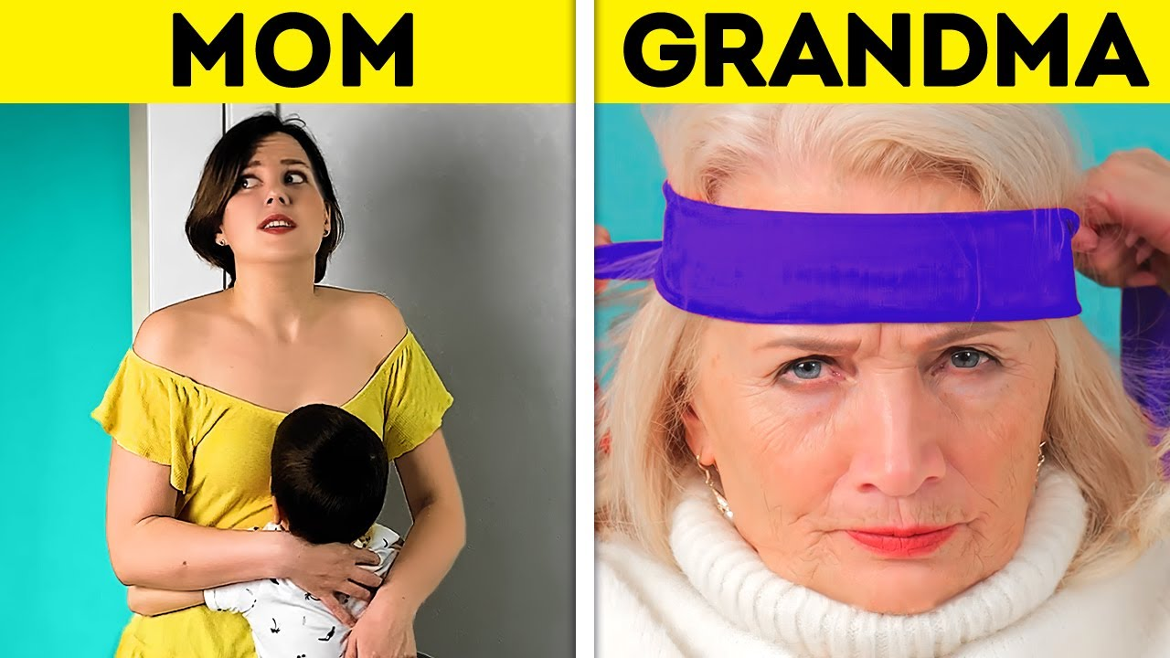 MOM VS. GRANDMA || Funny Situations And Awkward Moments With Relatives