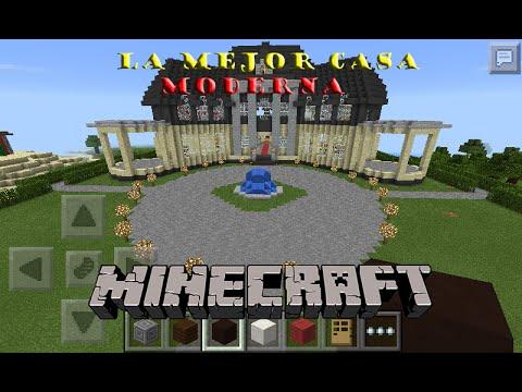 Casa moderna minecraft pocket edition 0 11 1 youtube for Casa moderna en minecraft pe 0 16 0