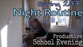 School Night Routine Spring 2017 (Sponsored)