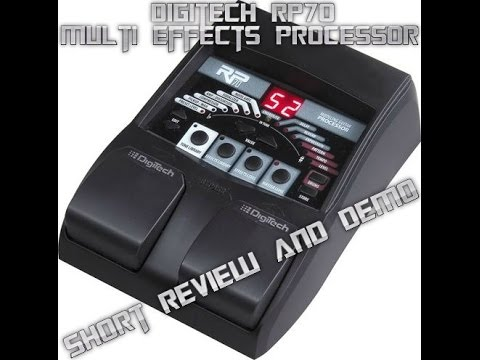 digitech rp70 guitar effects pedal review and demo youtube. Black Bedroom Furniture Sets. Home Design Ideas