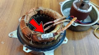 Fan Motor Winding Connection (CRS) And Check Motor Winding Temperature Sensor