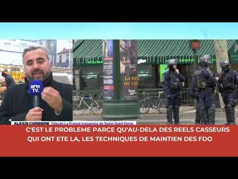 """""""Il y avait une attitude très agressive des forces de l'ordre"""" Alexis Corbière sur BFMTV"""