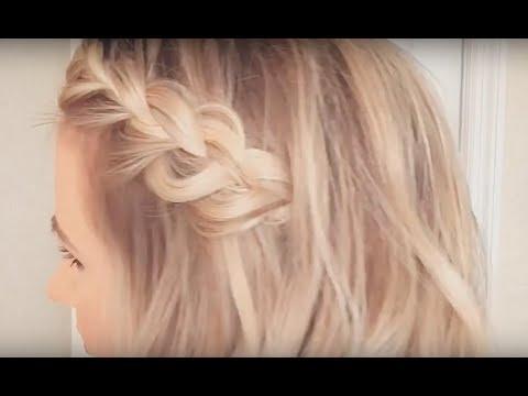Side Braid Hair Tutorial On Short Hair Youtube