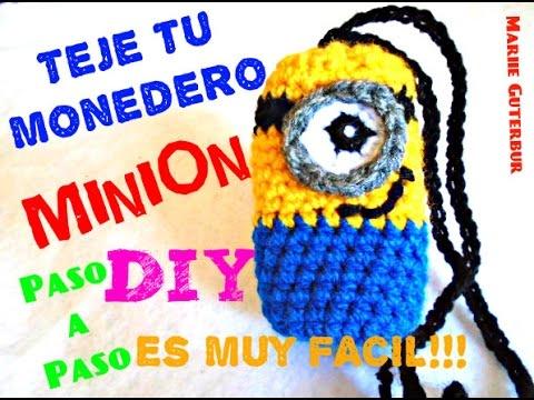 MINION Monedero !!! - Super Facil y Divertido!!! CROCHET TEJIDO ...