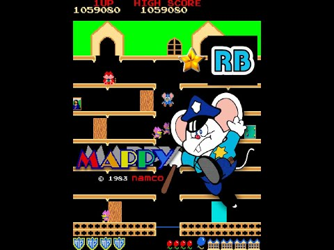 1983 [60fps] Mappy 1075810pts Nomiss Round50