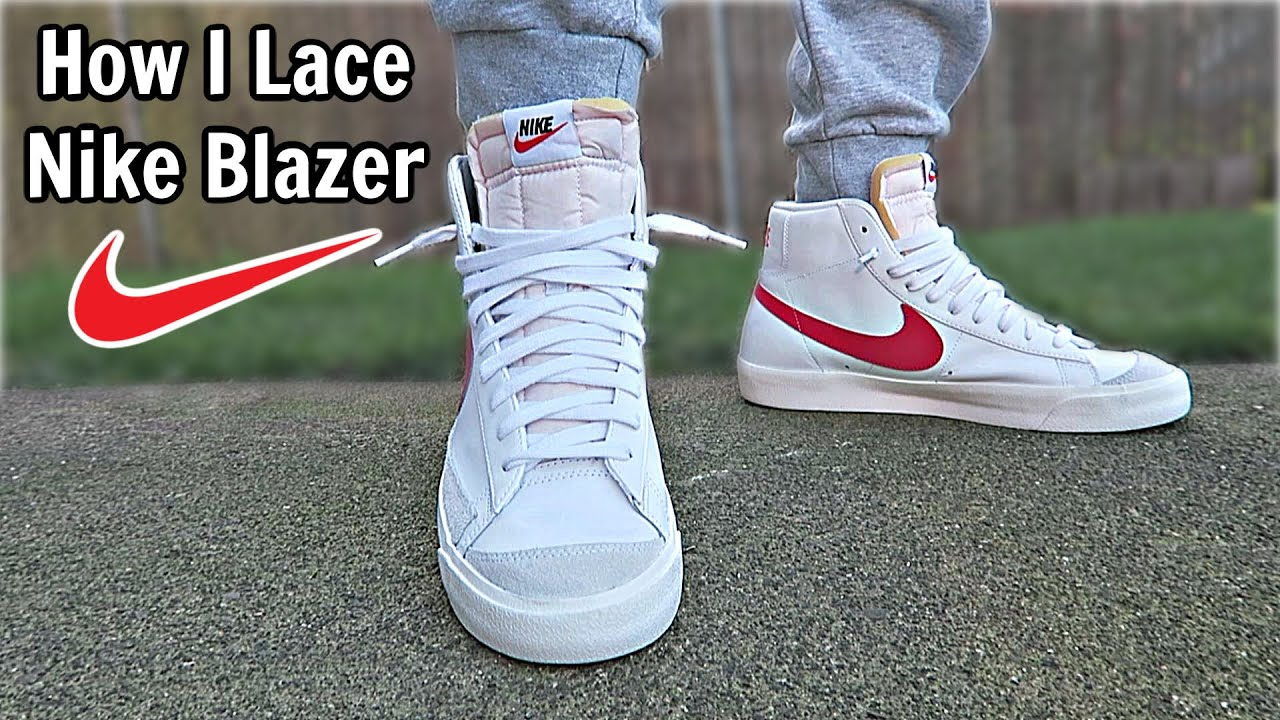 Habitual Productos lácteos Brote  How I Lace My Nike Blazer - YouTube