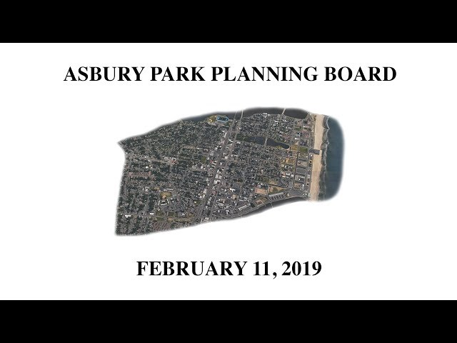 Asbury Park Planning Board Meeting - February 11, 2019