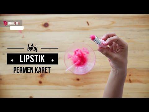 bikin-lipstick-dari-permen-karet
