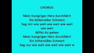 Scala- Hungriges Herz lyrics