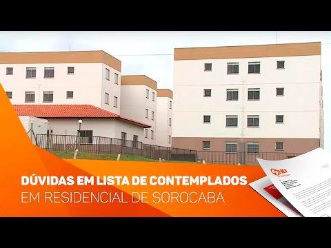 Dúvidas em lista de contemplados em residencial em Sorocaba - TV SOROCABA/SBT