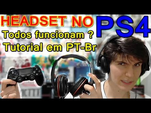 Headset no PS4 - Tirando Duvidas e como usar TODOS os Headset's
