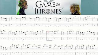 Game Of Thrones Season 08 Theme 4-String Bass - Tab sheet