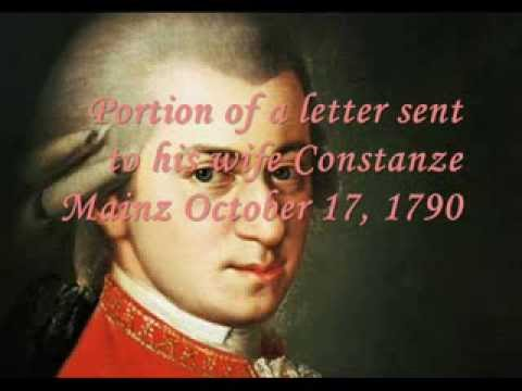 Love Letter from Wolfgang Amadeus Mozart to Wife Constanze