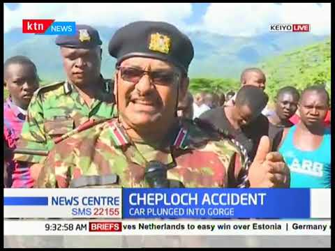 Car plunges into Cheploch Gorge in Elgeyo Marakwet County, number of casualties unknown