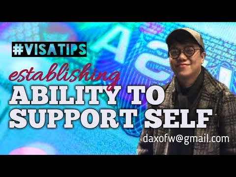 How to Establish Ability to Support Self | Usapang Visa Application | Tips and Guide | daxofw