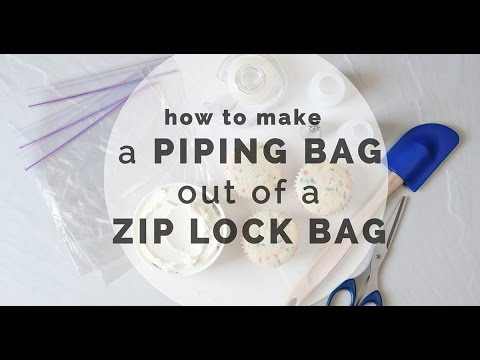 Piping Bag Out Of Zip Lock