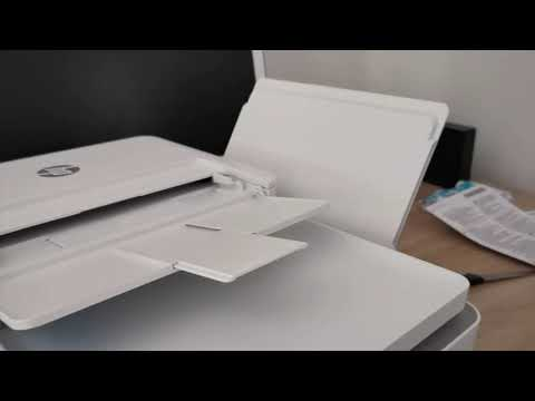 HP DeskJet Plus 4120 unboxing