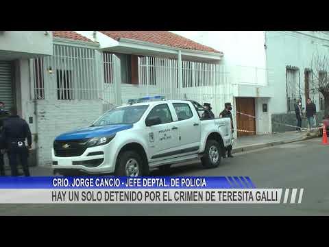 Dos allanamientos y un detenido hasta el momento vinculado al homicidio de María Teresa Galli