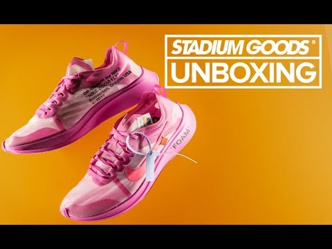 a50910a464 Off-White Nike Zoom Fly Pink | Stadium Goods Unboxing - YouTube