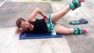 fique fit 16 exerccio com caneleira em decbito lateral