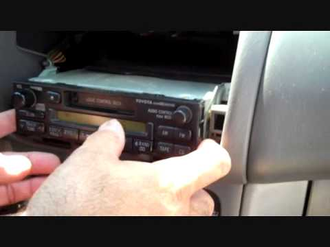 How to Toyota Corolla Stereo radio Removal 1998 - 2002 replace repair