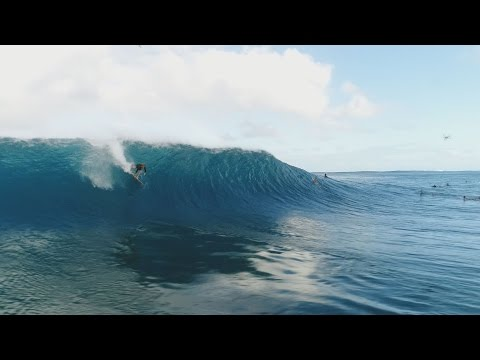 """Drone Hawaii Surfin Pipeline """"John John Florence , Jamie O'Brien , and more.."""""""
