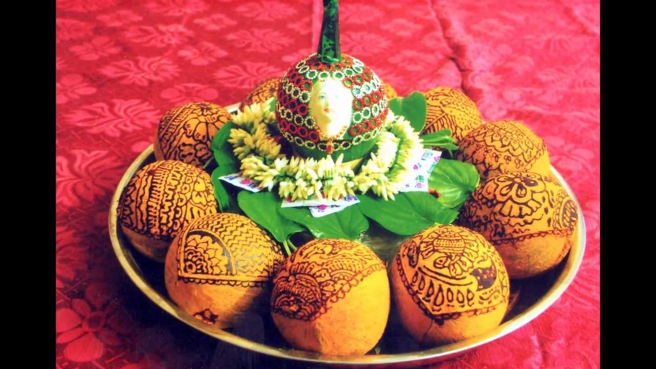 Coconut decorations by thenmozhi gunasekaran youtube for Decorate pictures