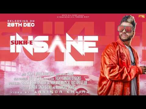 Insane (Motion Poster) Sukhe | White Hill Music | Releasing on 28 Dec