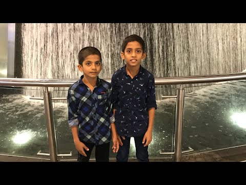 UAE 2019 Abdu and his brother visited Burj Khalifa and enjoyed it's surrounding