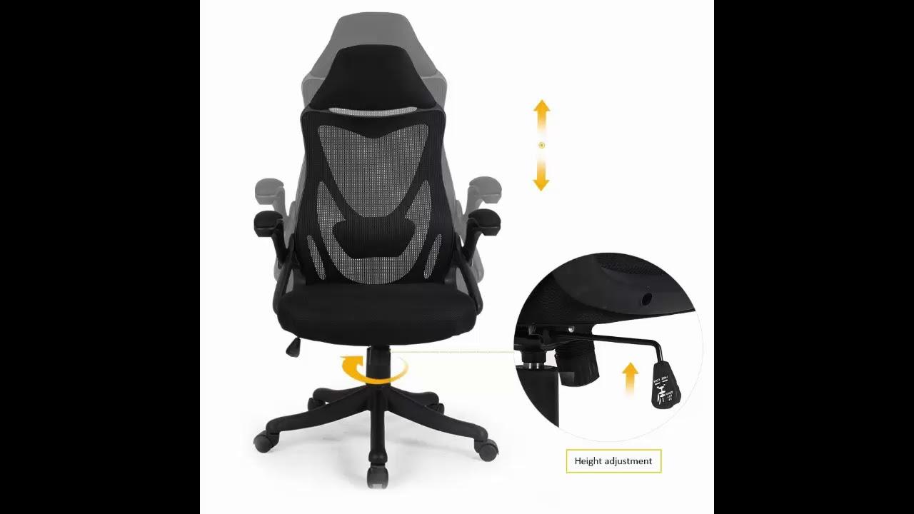 zenith high back mesh office chair with adjustable armrest lumbar