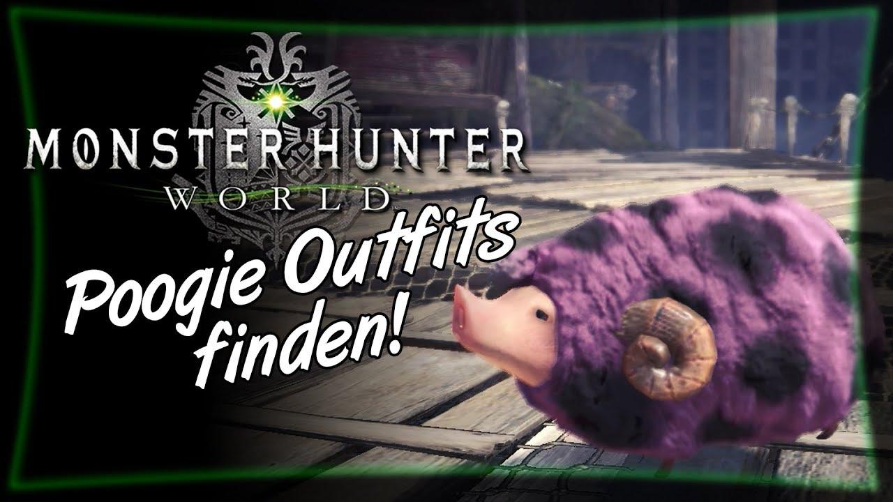 So bekommt man Poogie Outfits! • Monster Hunter World Deutsch