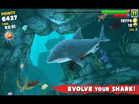 Full download hungry shark evolution megalodon laser for Fish evolution game